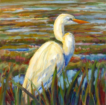 Egret in the Marsh