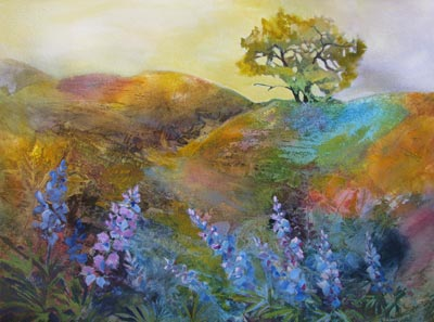 Oak Tree & Lupine